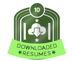 10th Downloaded Resume Badge